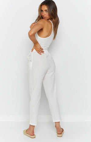 Wynne Pants White