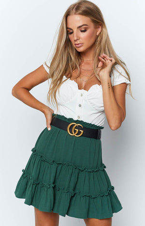 Yani Skirt Forest Green