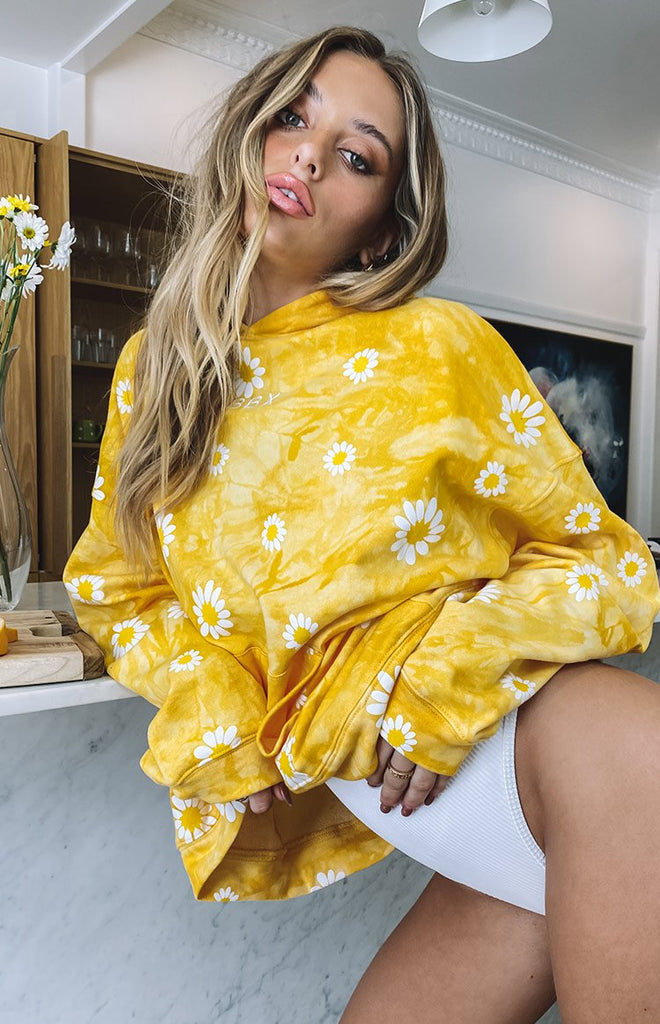 Aspen Hoodie Yellow Daisy Tie Dye - LIMITED EDITION 8