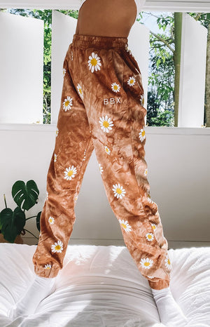 Aspen Lounge Pants Tan Tie Dye - LIMITED EDITION