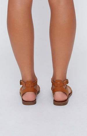 Lipstik Basement Sandals Tan