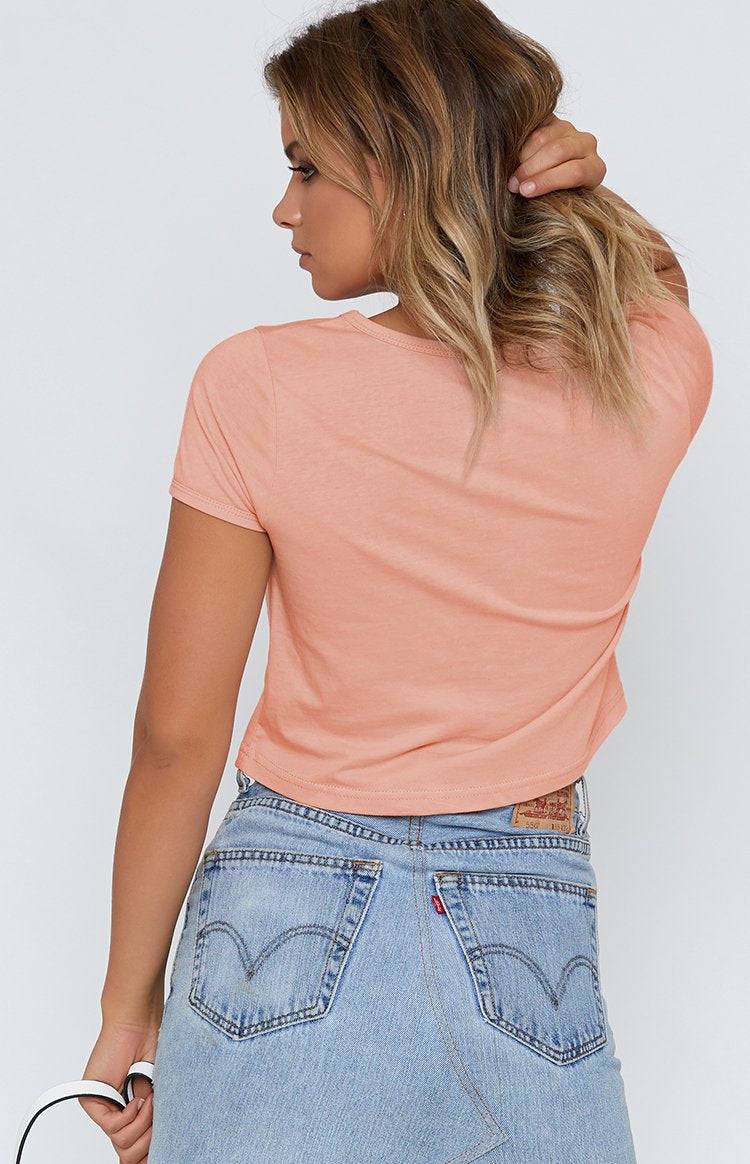 Fitted Cropped Tee Nude
