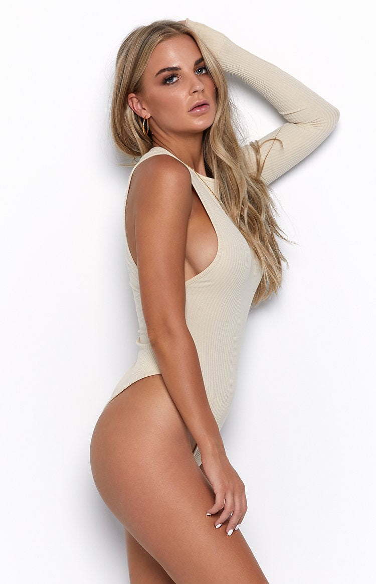 Flex One Sleeve Bodysuit Nude