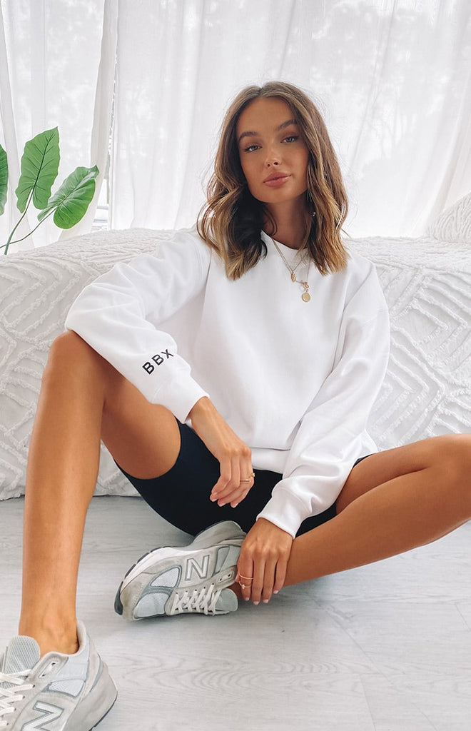 BBX Crew Neck Jumper White 1