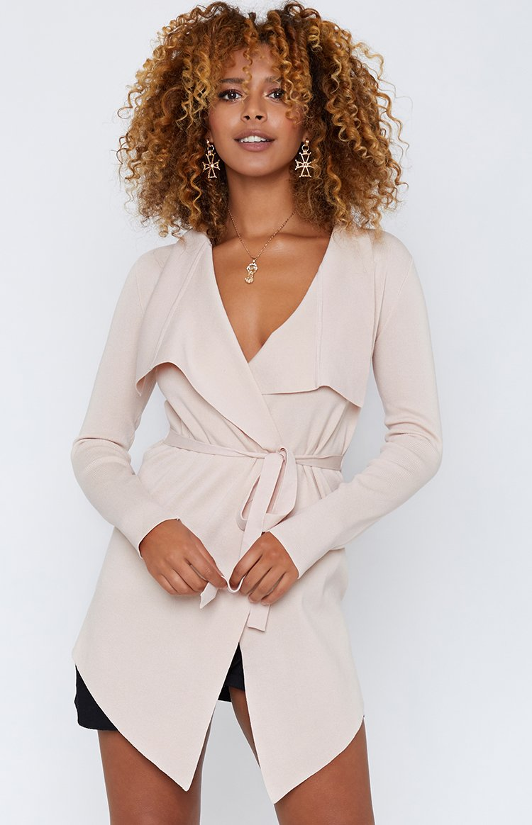 By The Fire Cardigan Beige