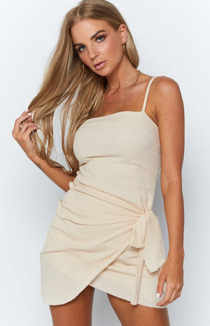 Petal Path Dress Beige