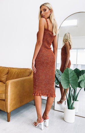 Bexley Midi Dress Rust