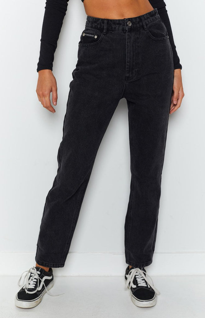 By Dyln Harlow Mom Jeans Black 8