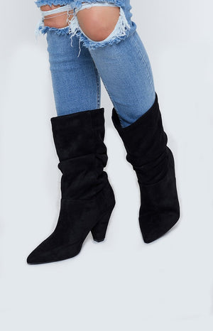 Windsor Smith Ava Black Micro Boots