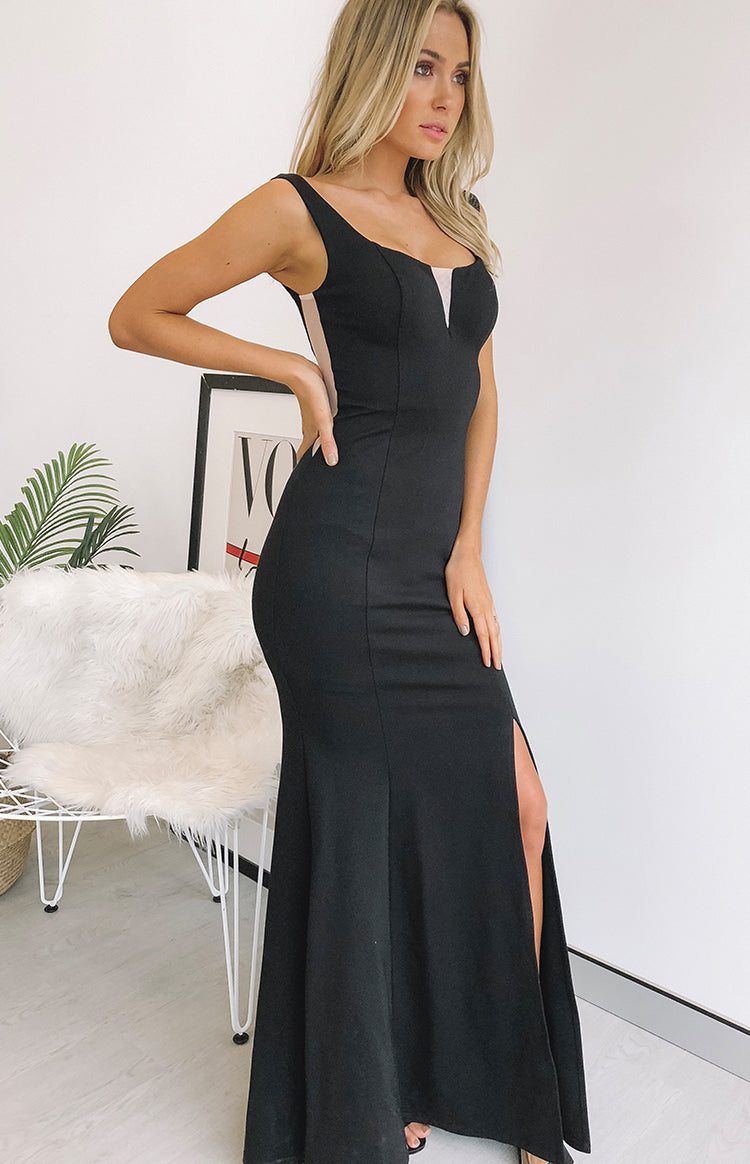 Walk Of Fame Maxi Dress Black