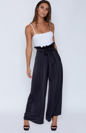 Bower Wide Leg Pants Black