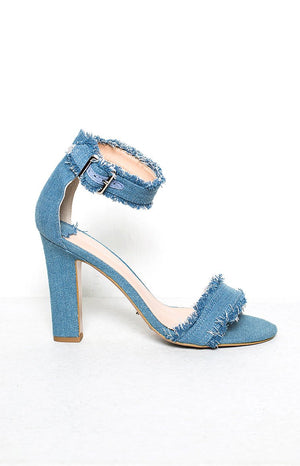 Tony Bianco Axel Heels Sky Denim