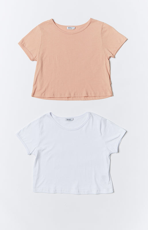 Fitted Cropped Tee 2 Pack