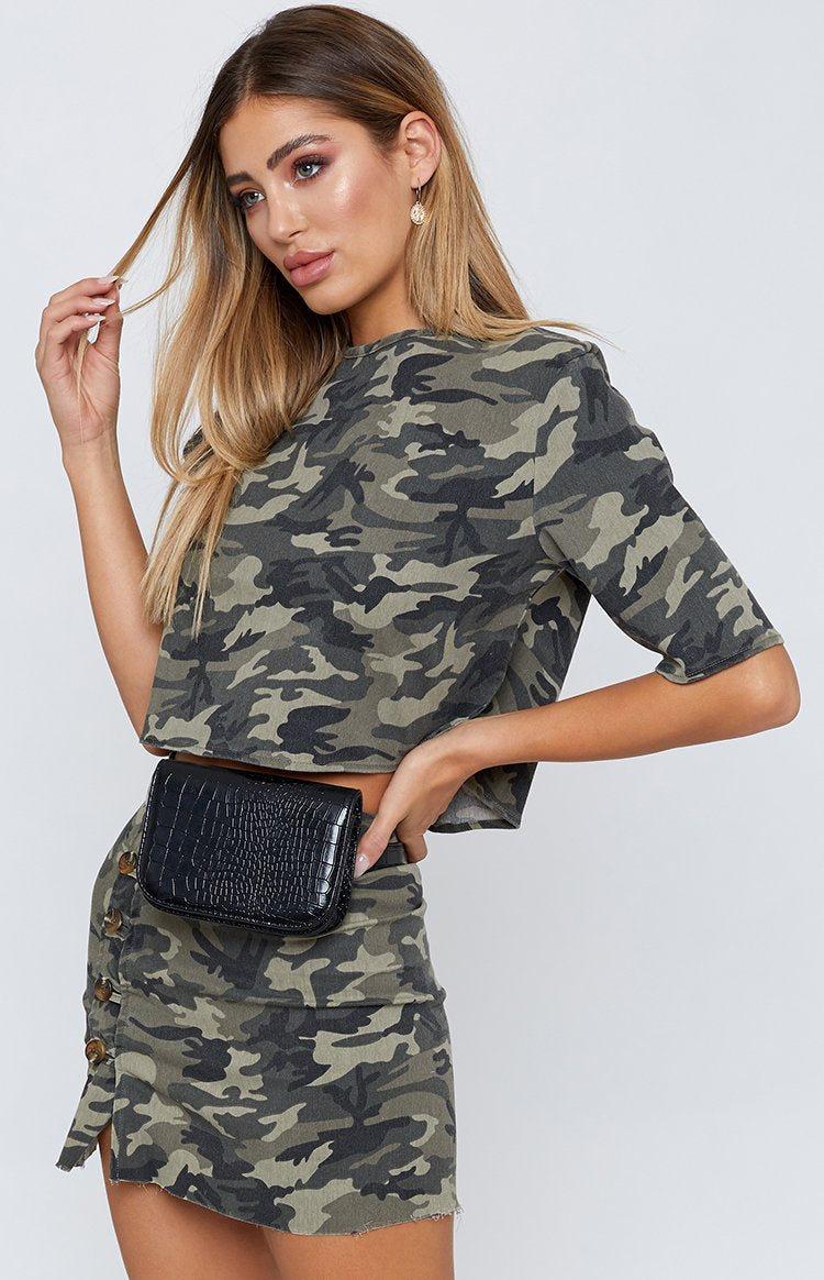 Not Today Top Army Camo