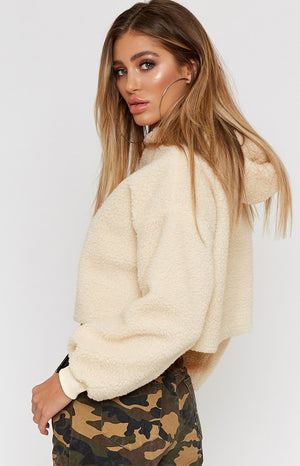 Tiny Teddy Crop Jumper Cream