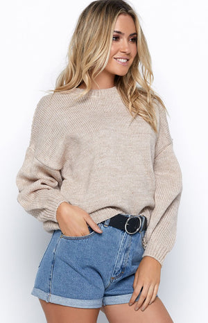 My Rules Jumper Beige