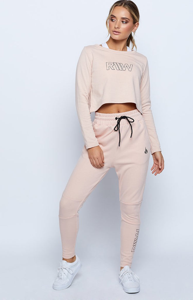 Ryderwear Ease Cropped Sweater Nude