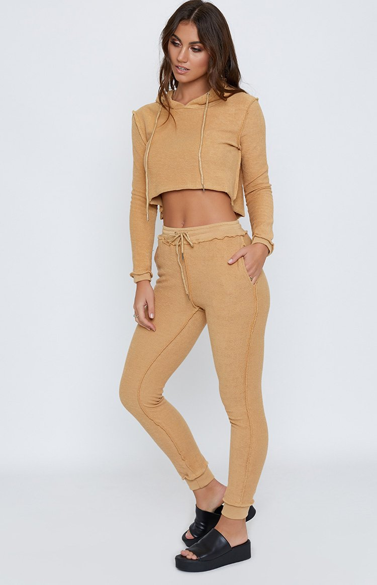 Hadid Jogger Two Piece Track Suit Set Camel