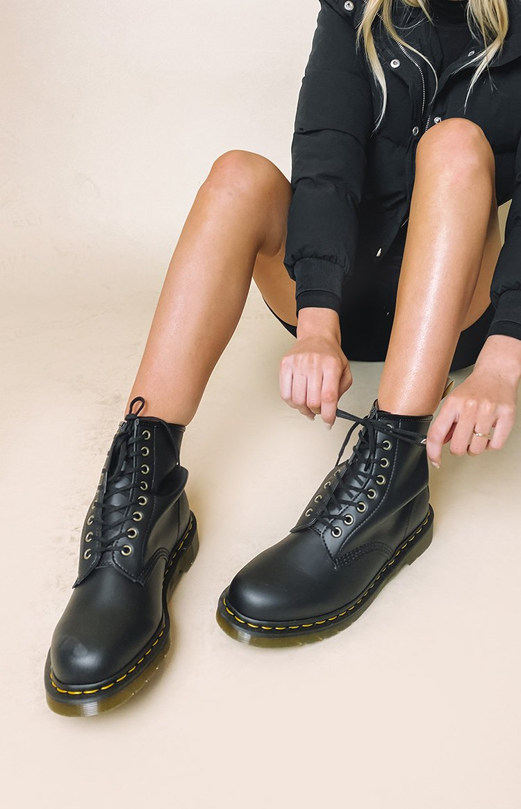 Dr Martens Vegan Leather 1460 Boots Black