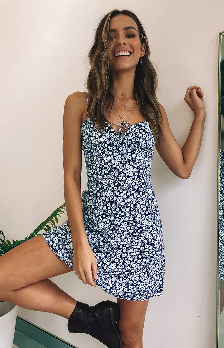 Estella Dress Navy Floral