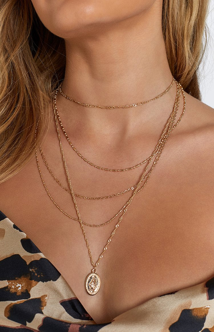 Eclat Rebecca Layered Necklace Gold (FREE Over $150)