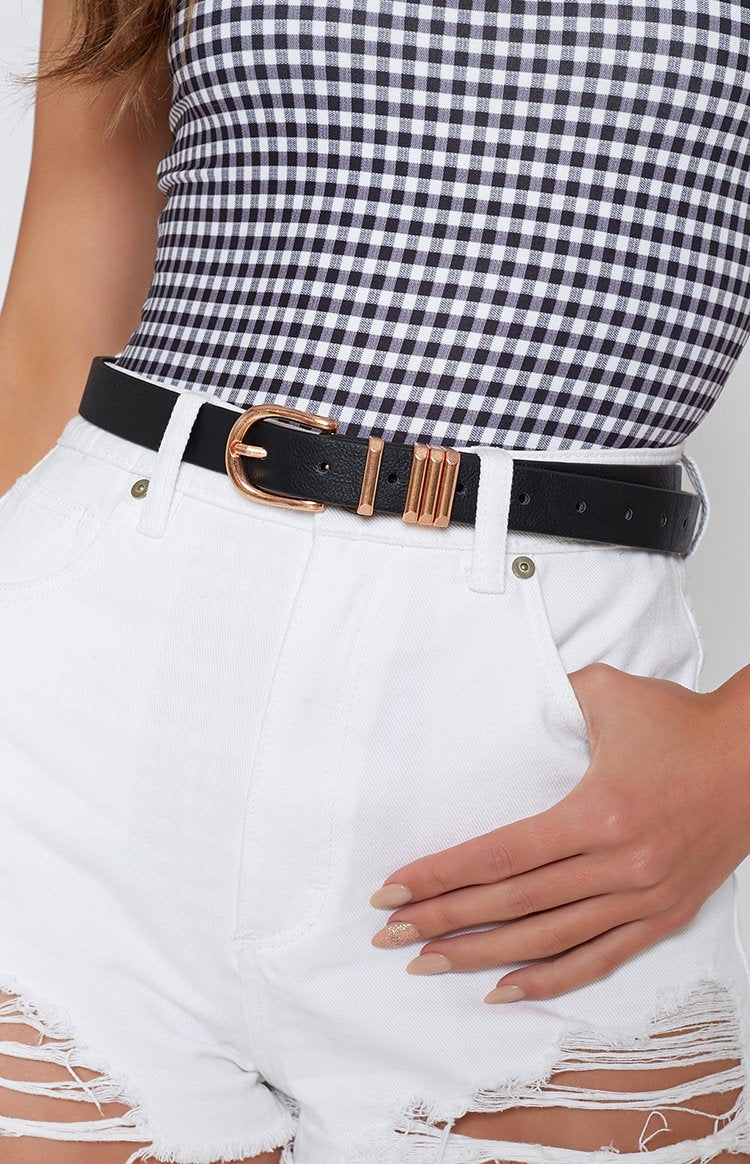 Rusty Rock N Rad Belt Black & Gold