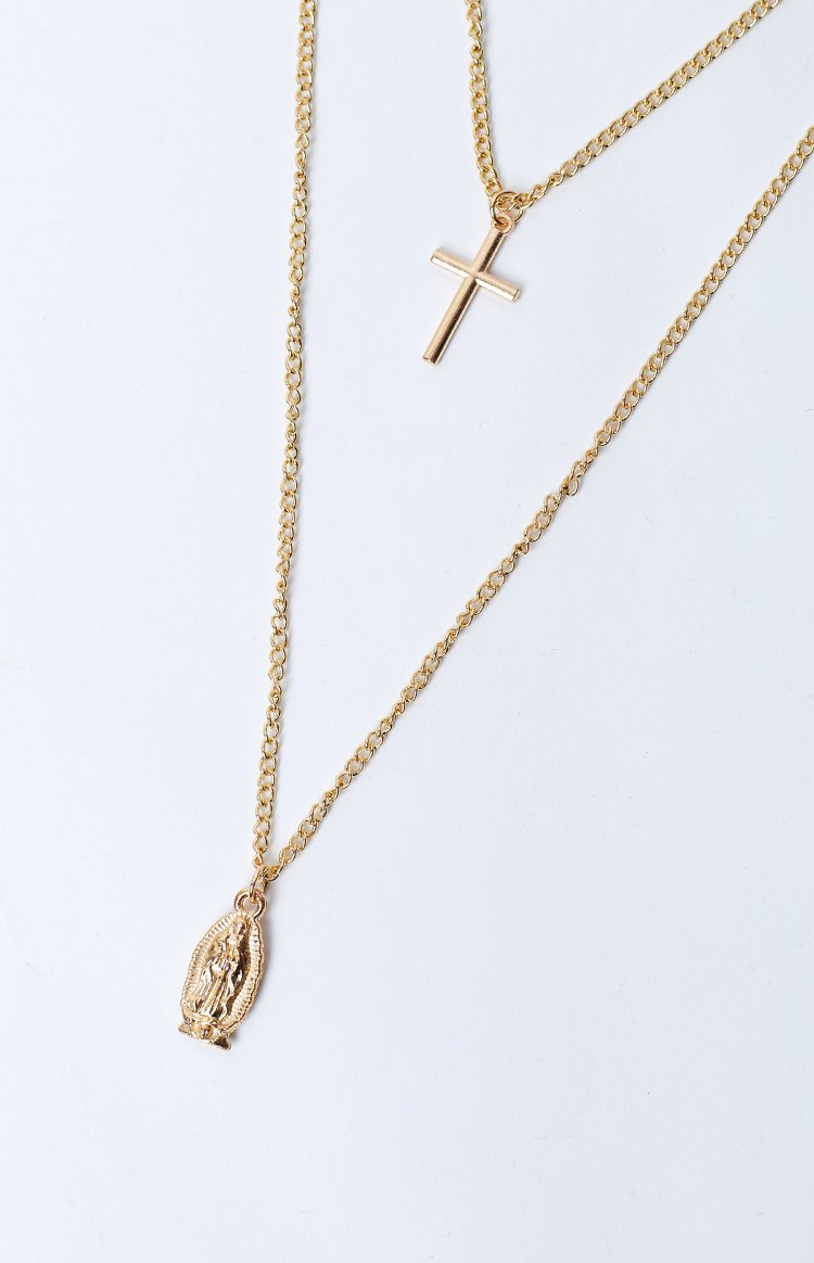 Eclat Mother Mary Necklace Gold