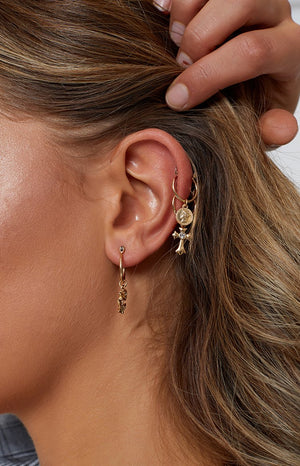 Eclat Just Believe Earrings Gold 5 Pack (FREE Over $120)