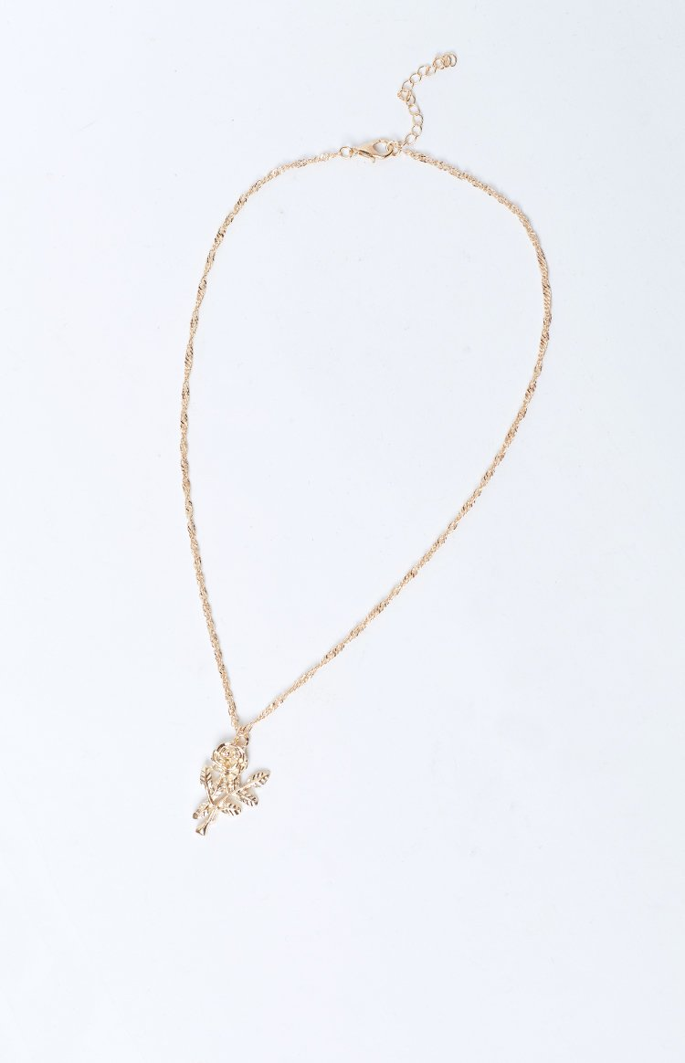 Eclat Tender Rose Necklace Gold