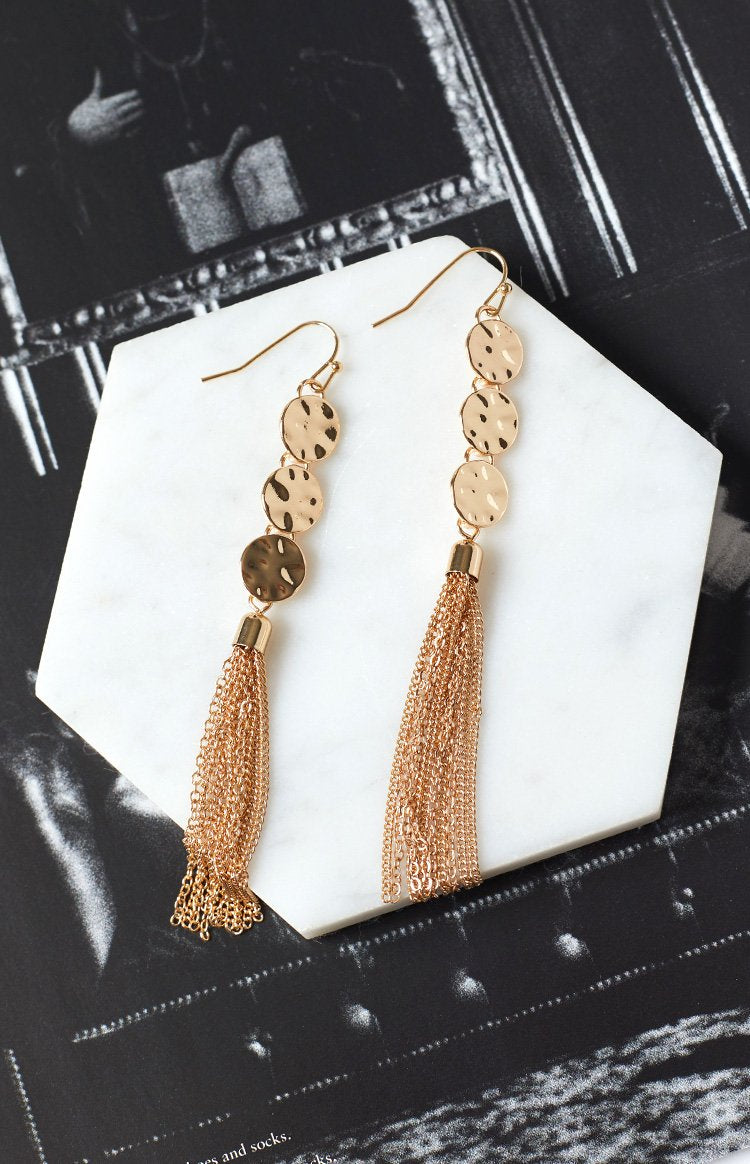 Eclat Chesca Tassel Earrings Gold
