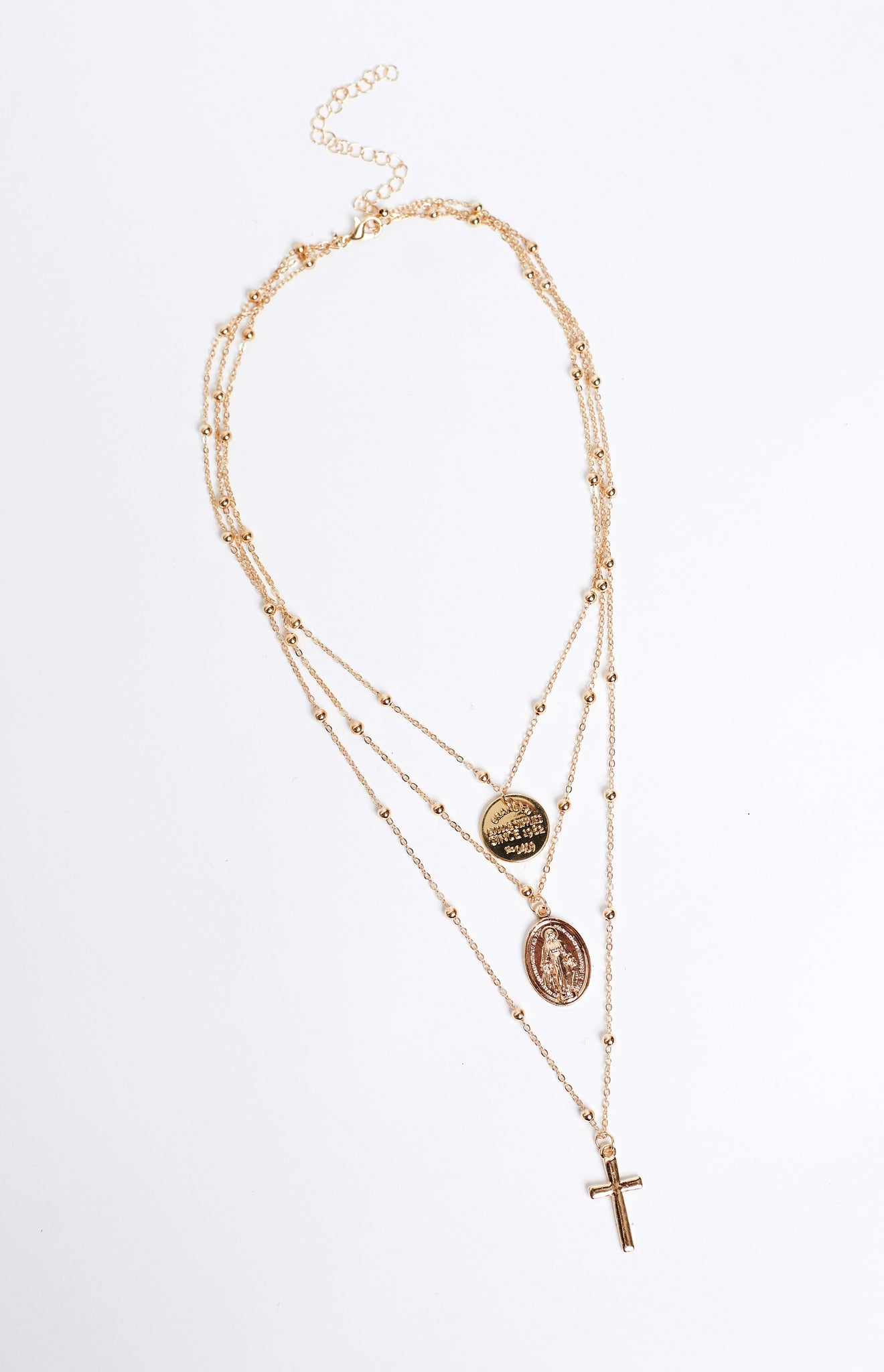 Eclat Hello Heaven Layered Necklace Gold