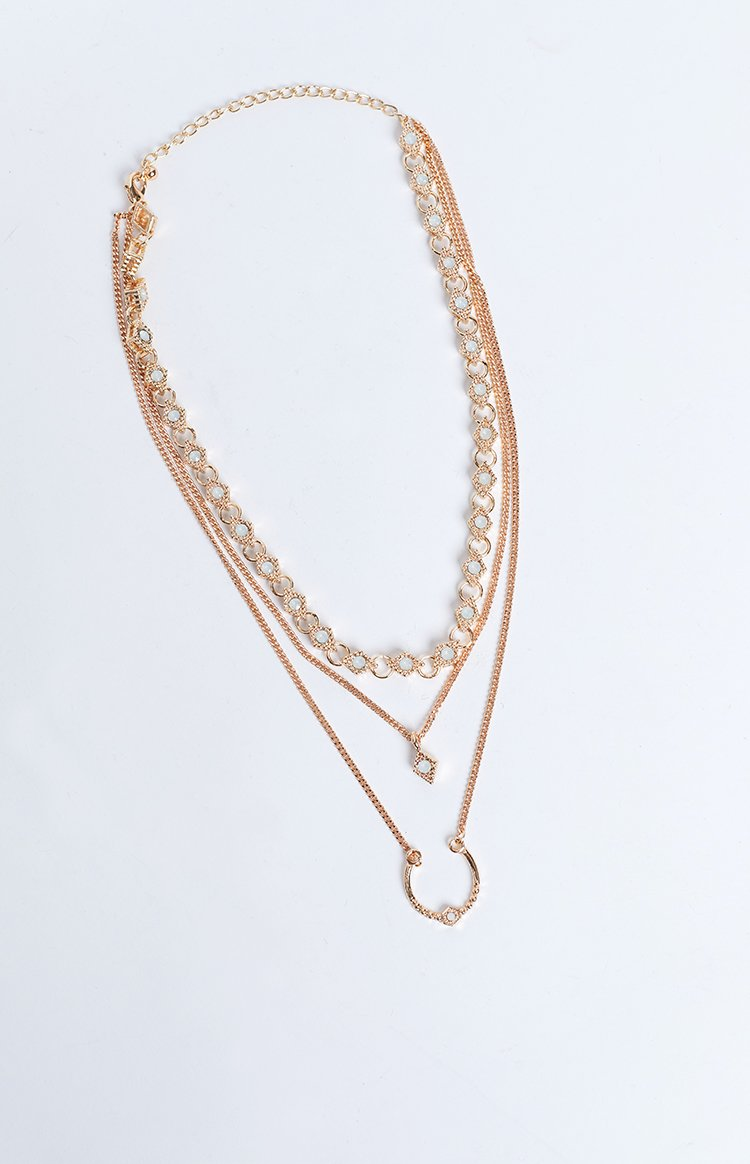 Eclat Unravel Layered Necklace Gold