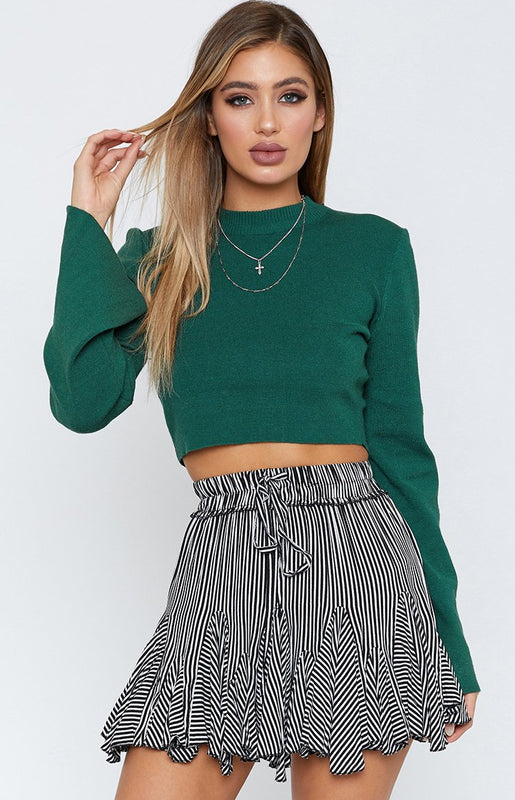 River Wild Long Sleeve Top Green