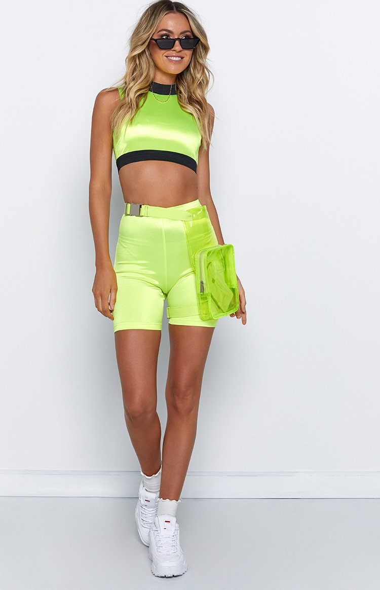 Neo Bike Crop Fluro Yellow