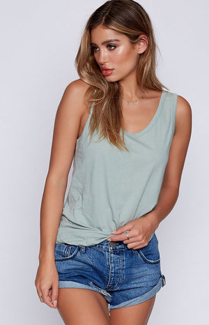 Nude Lucy Daybreak Scoop Neck Tank Mineral Green