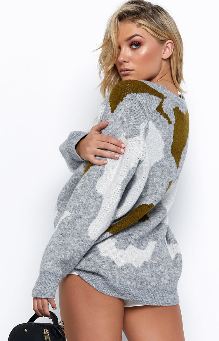 Camelot Jumper Grey Camo