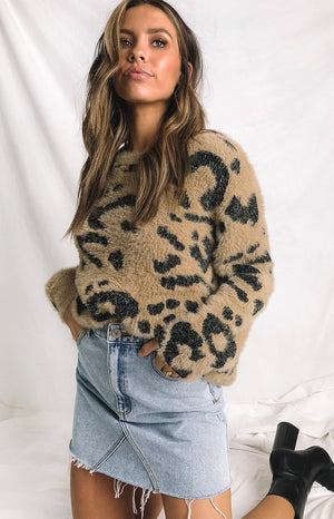 Alaska Knit Brown Animal