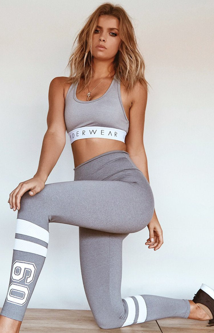 Ryderwear So Down Varsity Scrunch Leggings Grey