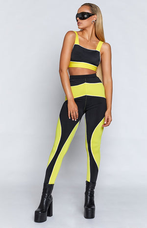 Niamh Leggings Black & Yellow