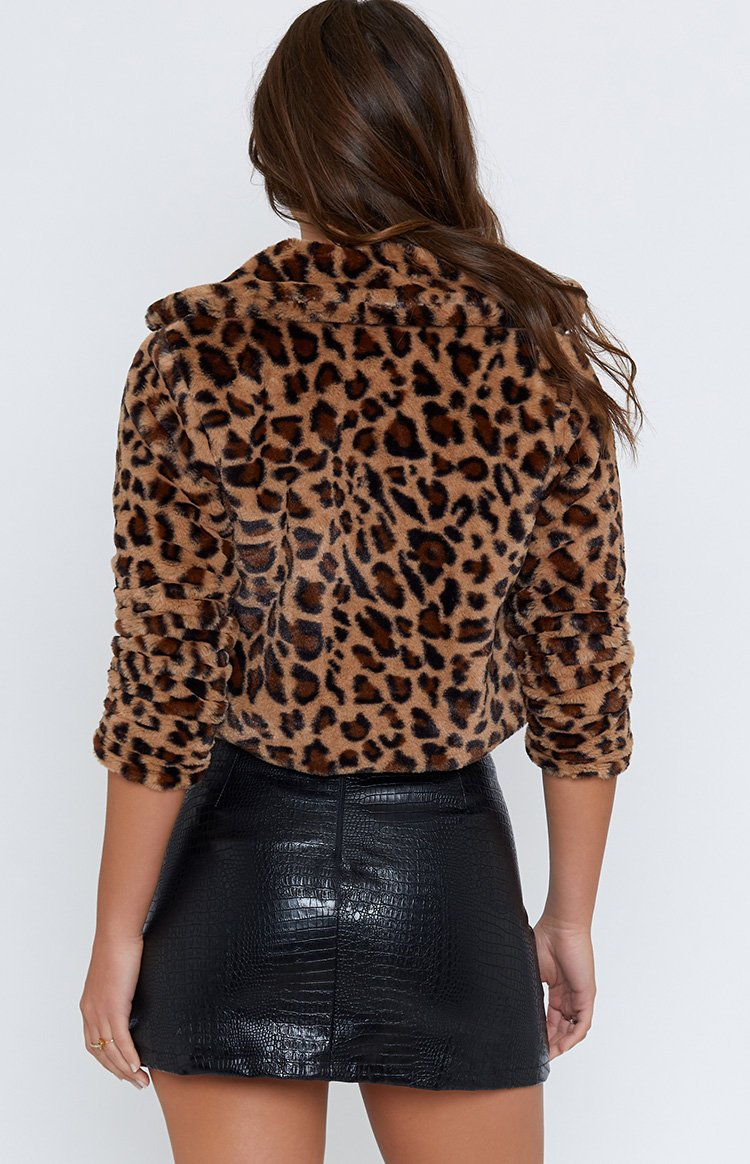 Into The Wild Faux Fur Jacket Leopard
