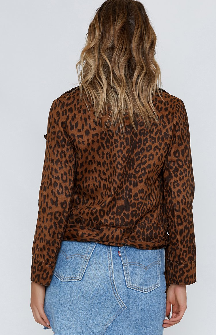 Showing Off Jacket Leopard