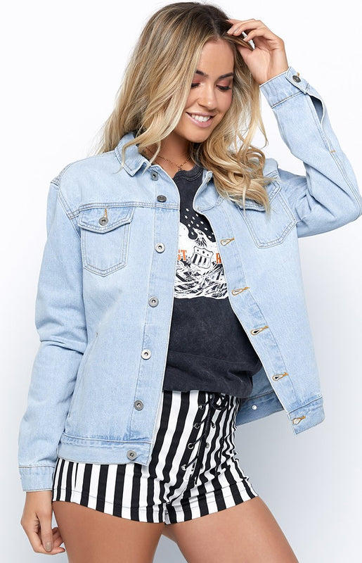 Drifter Light Wash Denim Jacket Blue