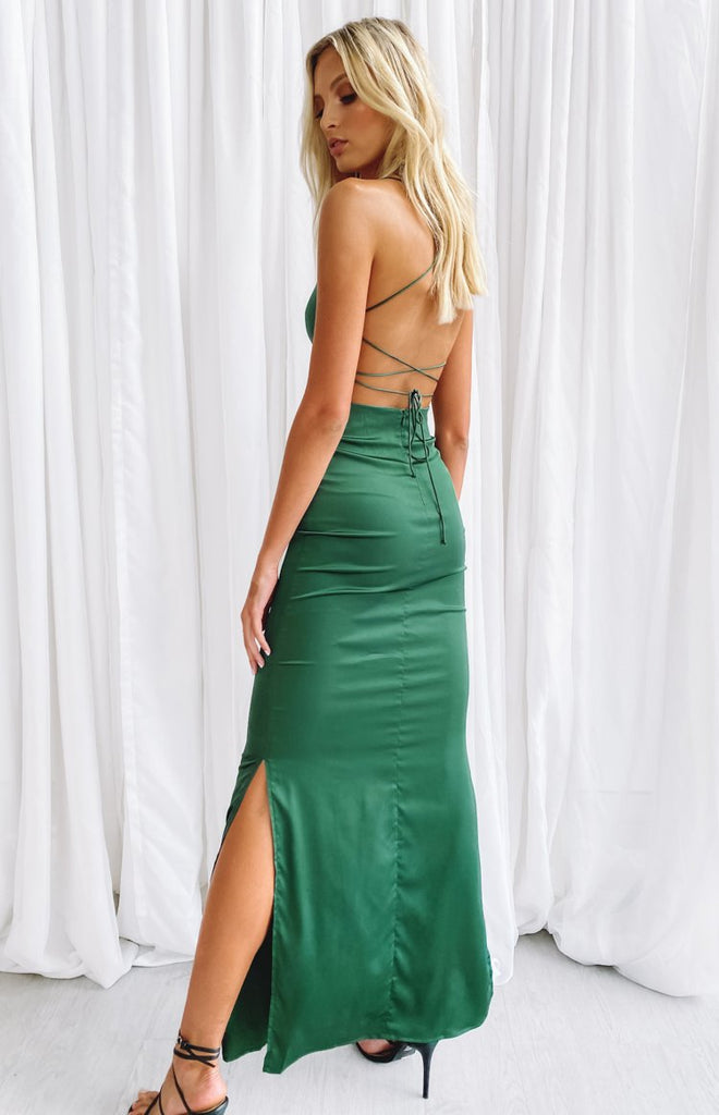 Manhattan Slip Formal Dress Emerald 2
