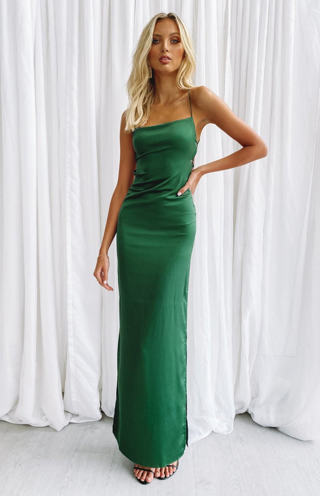 Manhattan Slip Formal Dress Emerald 8