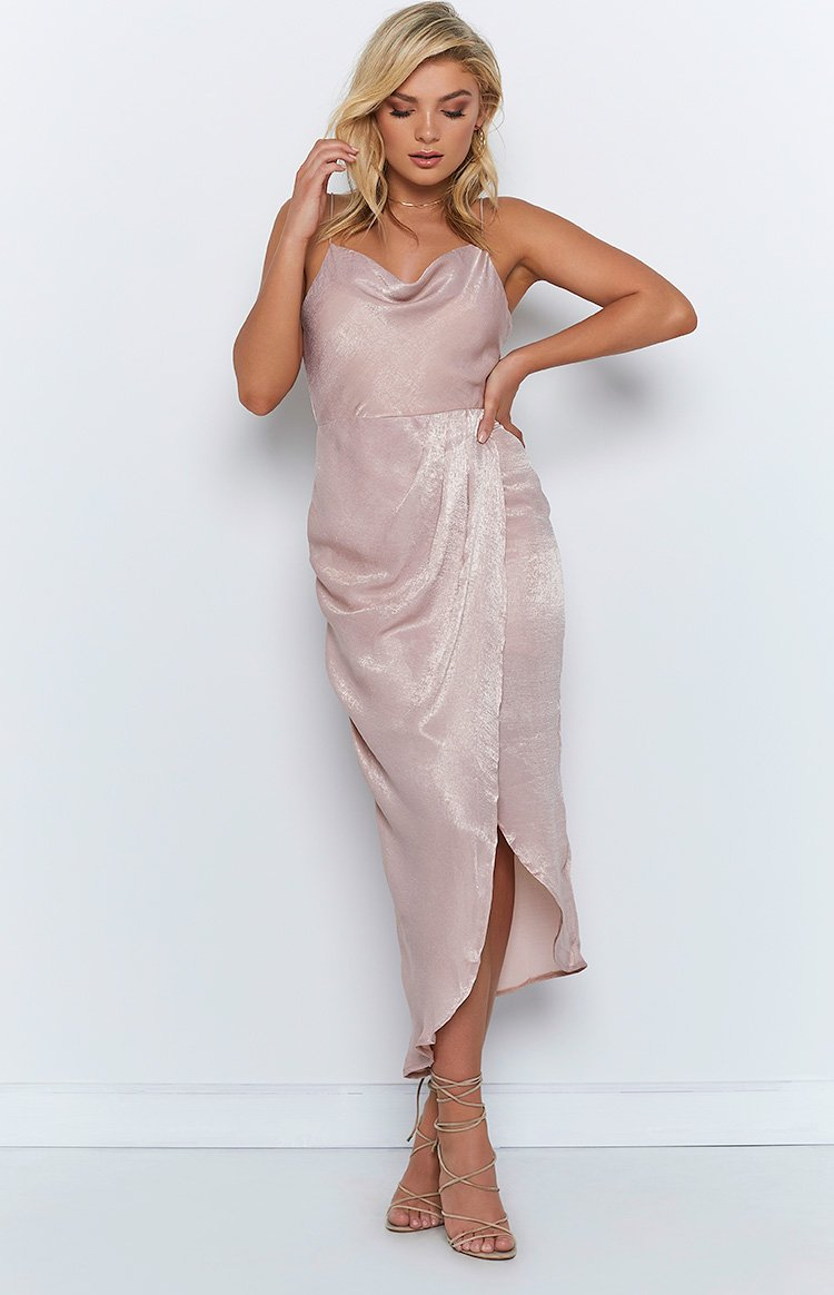 Moonlight Chase Maxi Dress Blush