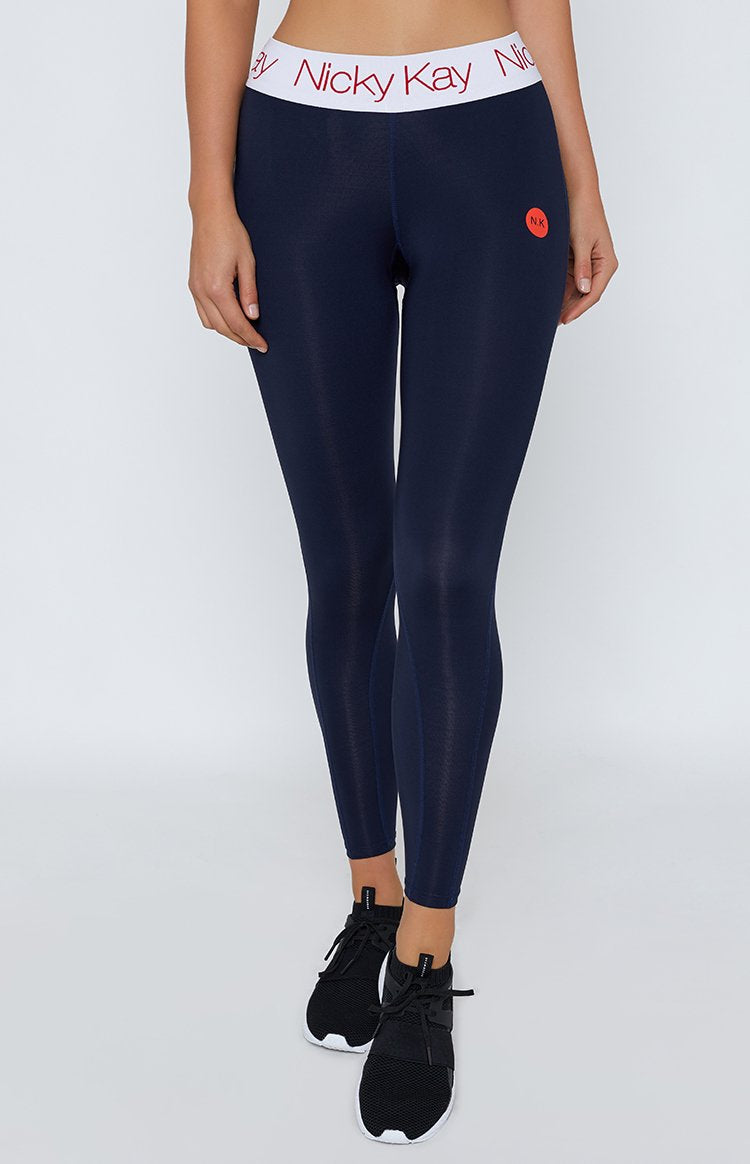 Nicky Kay FitGlam Compression Tights Navy