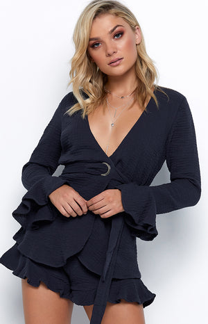 Peaceful Playsuit Navy
