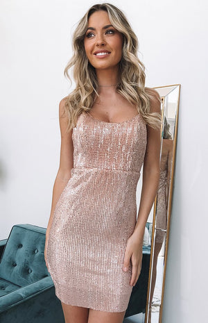 Aisha Dress Rose Gold