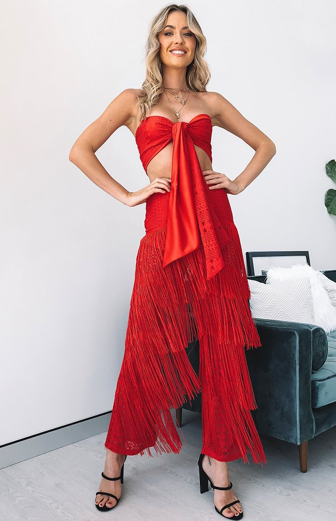 Palm Springs Two Piece Set Red