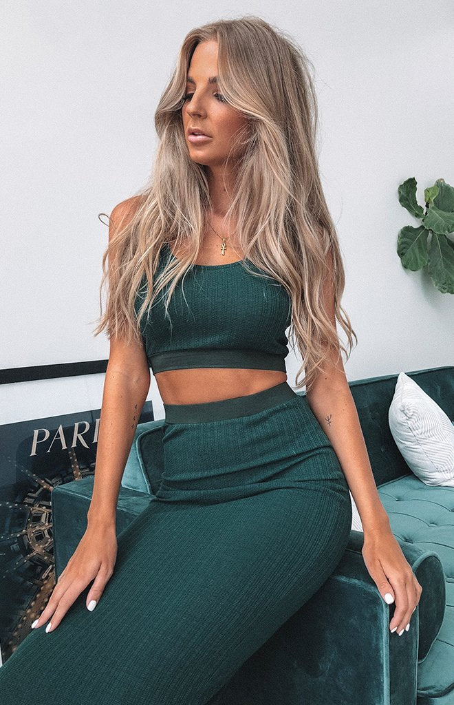 Mary Jane Two Piece Set Forest Green